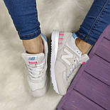 Женские кроссовки New Balance 574 grey/white. Топ качество. Живое фото (Реплика ААА+), фото 7