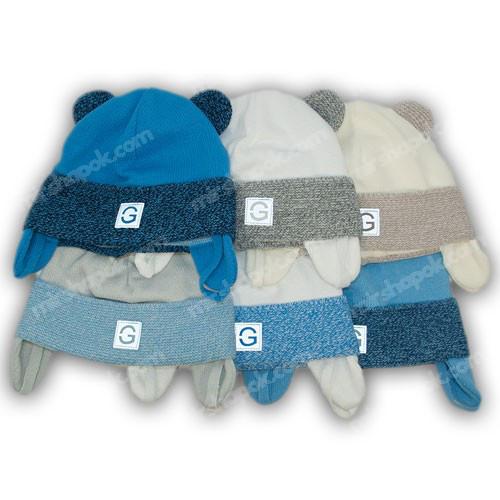 вязаная шапка с завязками