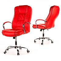 Кресло офисное MAX Calviano красное + настенные часы