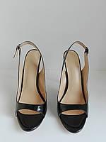 Женские классические туфли на высоком каблуке с открытым носком 36 размера