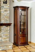 Вітрина (сервант) дерев'яна у вітальню Платина РКБ-Меблі в класичному стилі колір на вибір