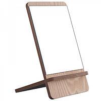 Косметическое настольное зеркало Ri Zhuang (коричневое)