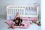 Детская кровать для девочки от 3 лет с бортиками Конфетти