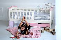 Детская кровать для девочки от 3 лет с бортиками 70*160