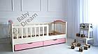 Детская кровать для девочки от 3 лет с бортиками Baby Dream Konfetti, фото 3
