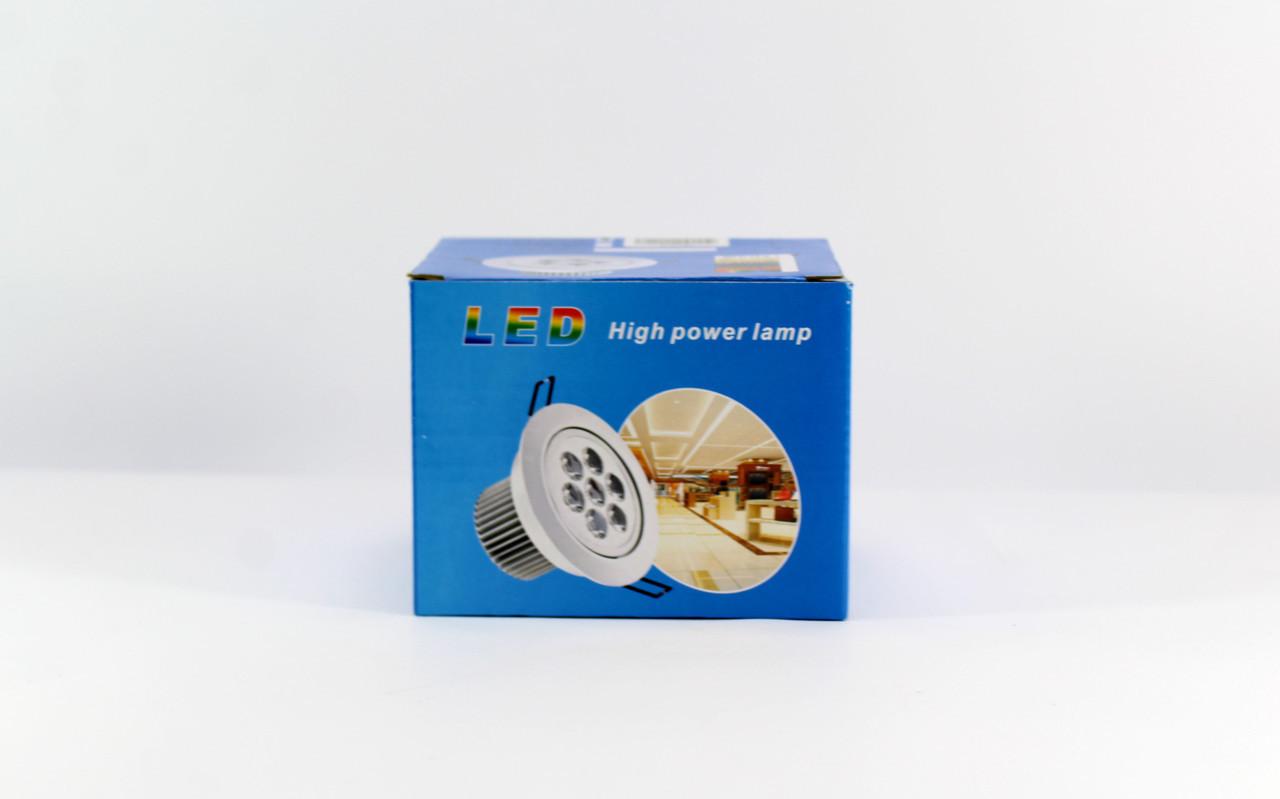 Лампочка LED LAMP 5W Врезная круглая точечная 1402  50