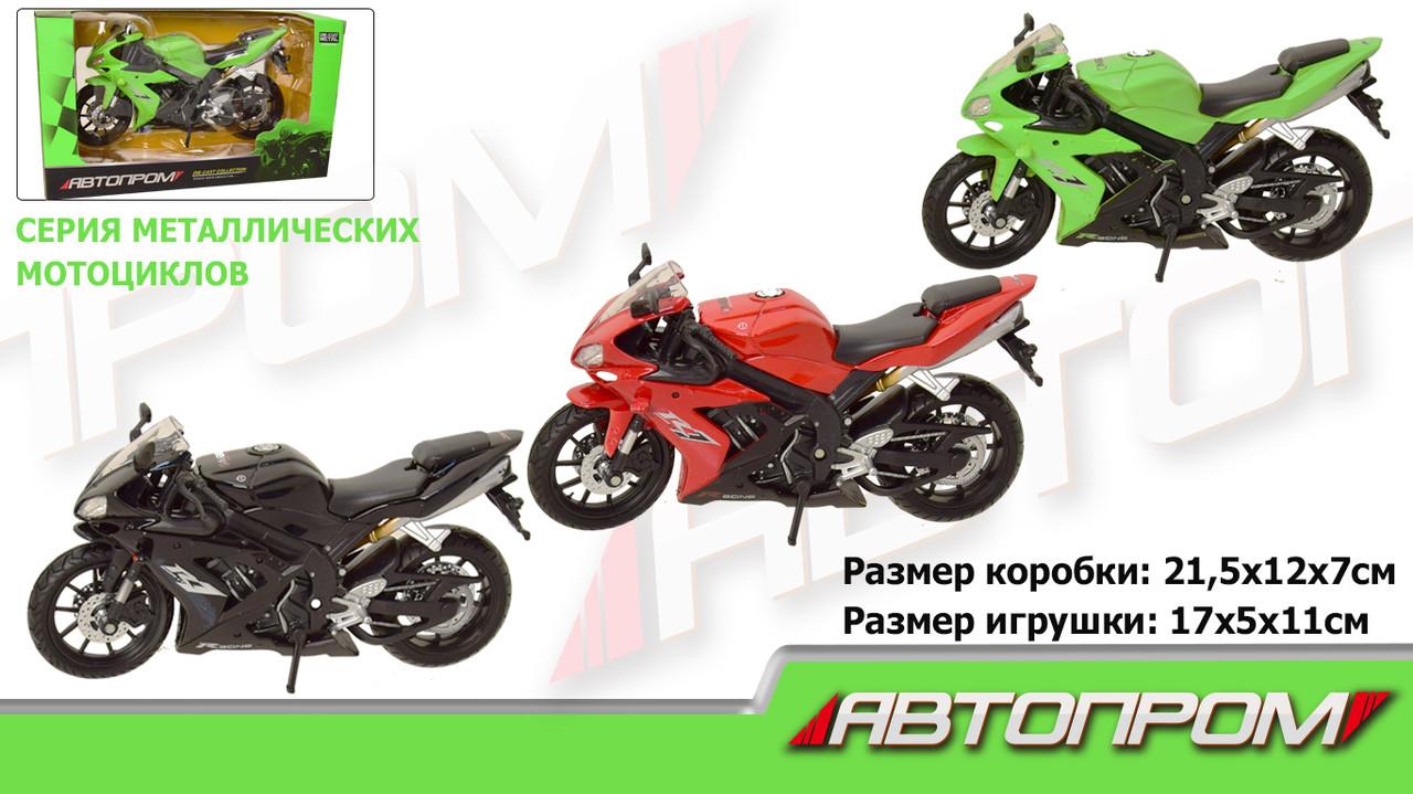 """Мотоцикл метал-пластик.инерц 7747 """"Автопром"""" в коробці 21, 5*12*7см"""