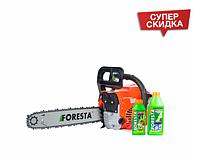 Бензопила Foresta FA-40S + масло для цепи и двигателя