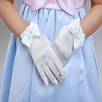 Перчатки для невесты атласные