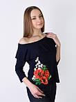 Обаятельная футболка с вышитым цветком и воланами, фото 4