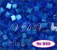 Бисер сатин Preciosa Чехия №35061 50г, синий