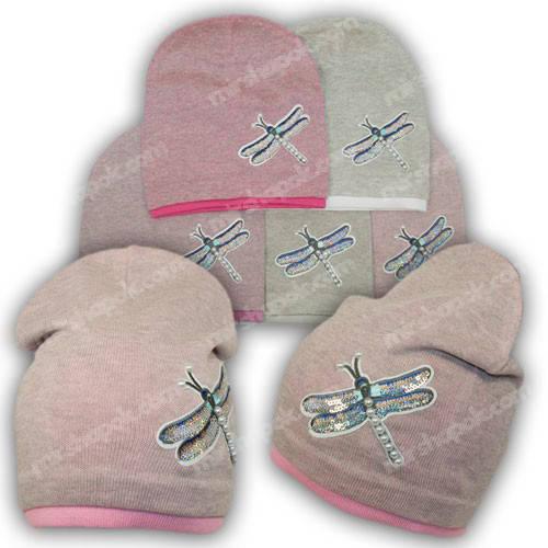 Вязаная шапка для девочки, р. 50-52, A26
