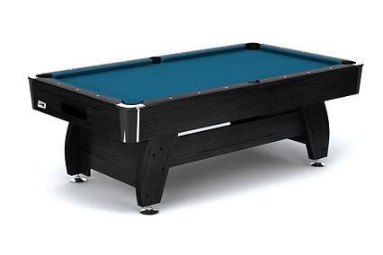 Бильярдный стол игровой, профессиональный VIP Extra 8FT с каменной плитой black/bl для дома с доставкой, Львов, фото 2