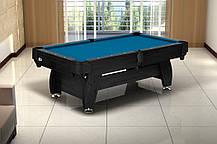 Бильярдный стол игровой, профессиональный VIP Extra 8FT с каменной плитой black/bl для дома с доставкой, Львов, фото 3