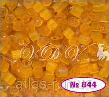 Бисер сатин Preciosa Чехия №85091 50г, оранжевый