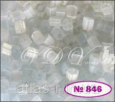 Бисер сатин Preciosa Чехия №05051 50г, прозрачный снежный