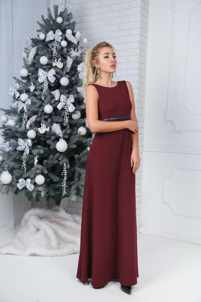 """Длинное вечернее платье """"Lavinna"""" с драпировкой и открытой спиной (2 цвета)"""