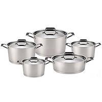 Набор посуды Fissman ELARA 10 пр. (Нержавеющая сталь, металлические крышки)