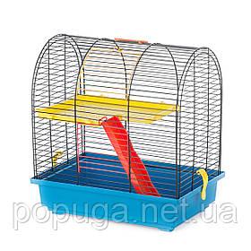 Клетка для грызунов, эмаль GRIM 2+PL EKO InterZoo 36*24*38 см