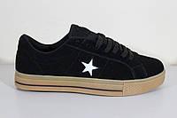 Кроссовки Конверс подростковые черные, фото 1