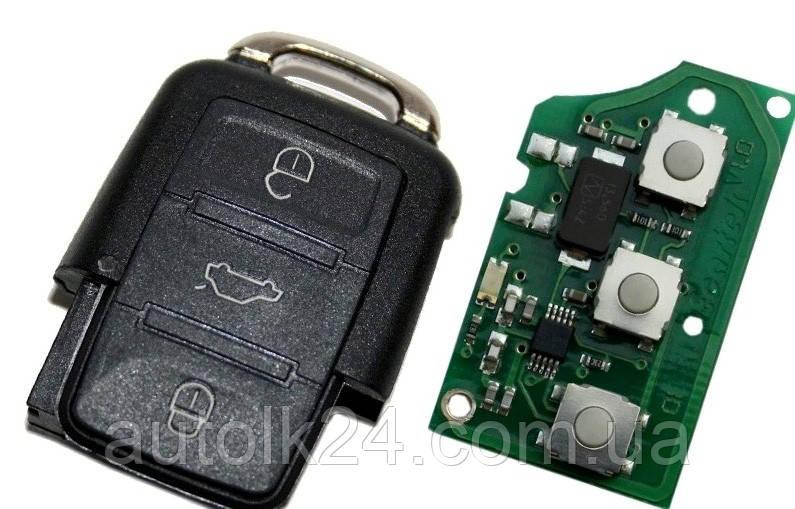 Пульт для ключа марки VOLKSWAGEN,SEAT,SKODA 434Mhz CAN-Bus  id48 1J0 959 753 G,1J0959753G