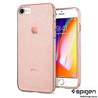 Чехол Spigen для iPhone 8 / 7 Liquid Crystal Glitter, Rose Quartz