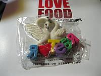 Магнит пара лебедей я тебя люблю лебеди сердце подарок ко дню СВЯТОГО ВАЛЕНТИНА сувенир, фото 1