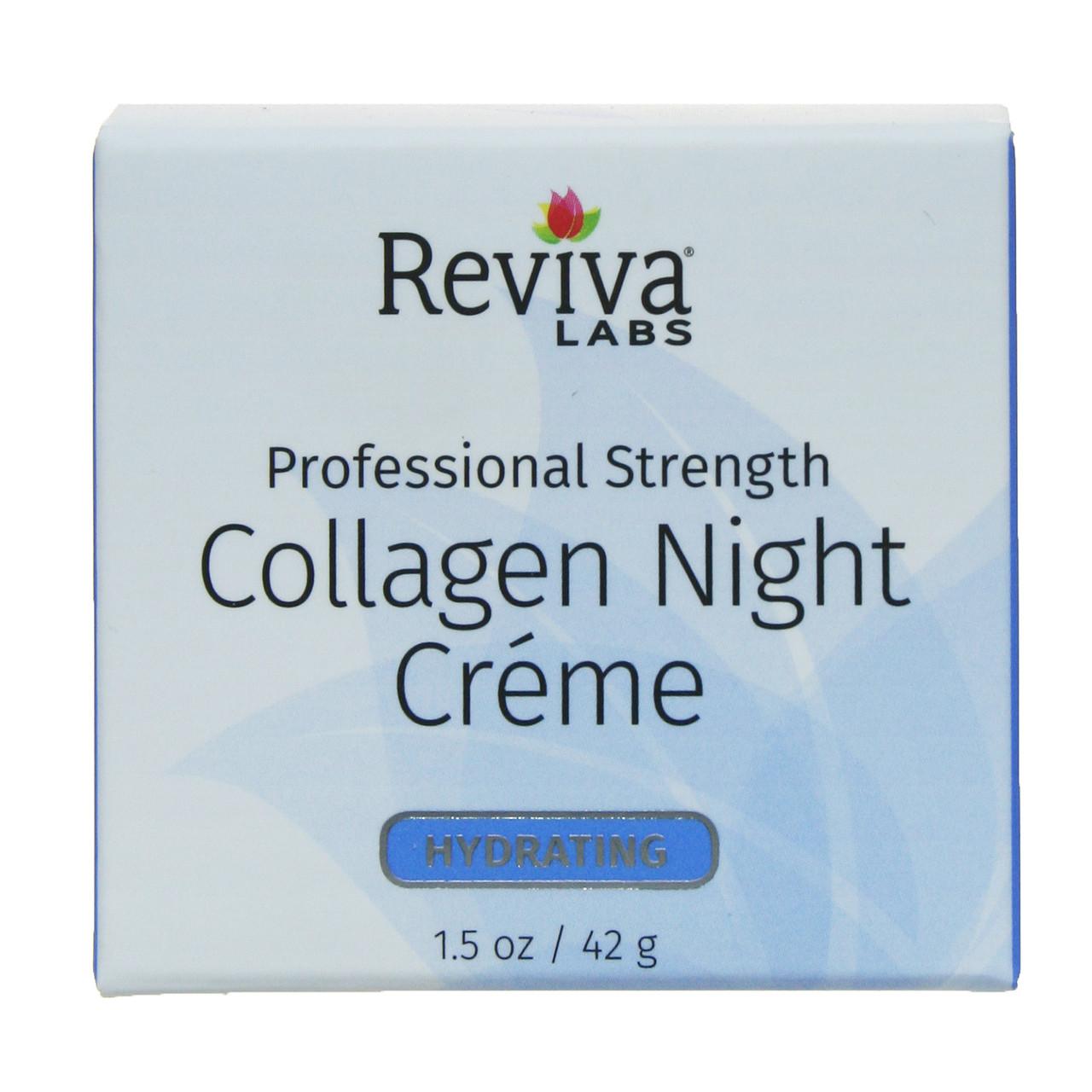 Ночной крем с коллагеном, Collagen Night Cream, Reviva Labs, 42 г