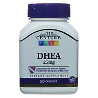 Дегидроэпиандростерон ДГЕА, DHEA, 21st Century , 90 капсул