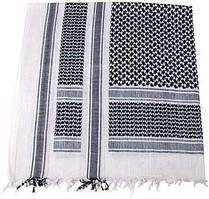 Куфия (арафатка) 115x110см чёрно-белая MFH 16503A
