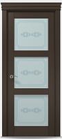 """Двери межкомнатные Папа карло """"Millenium ML-07""""  бевелс экошпон renolit  Дуб мокко"""