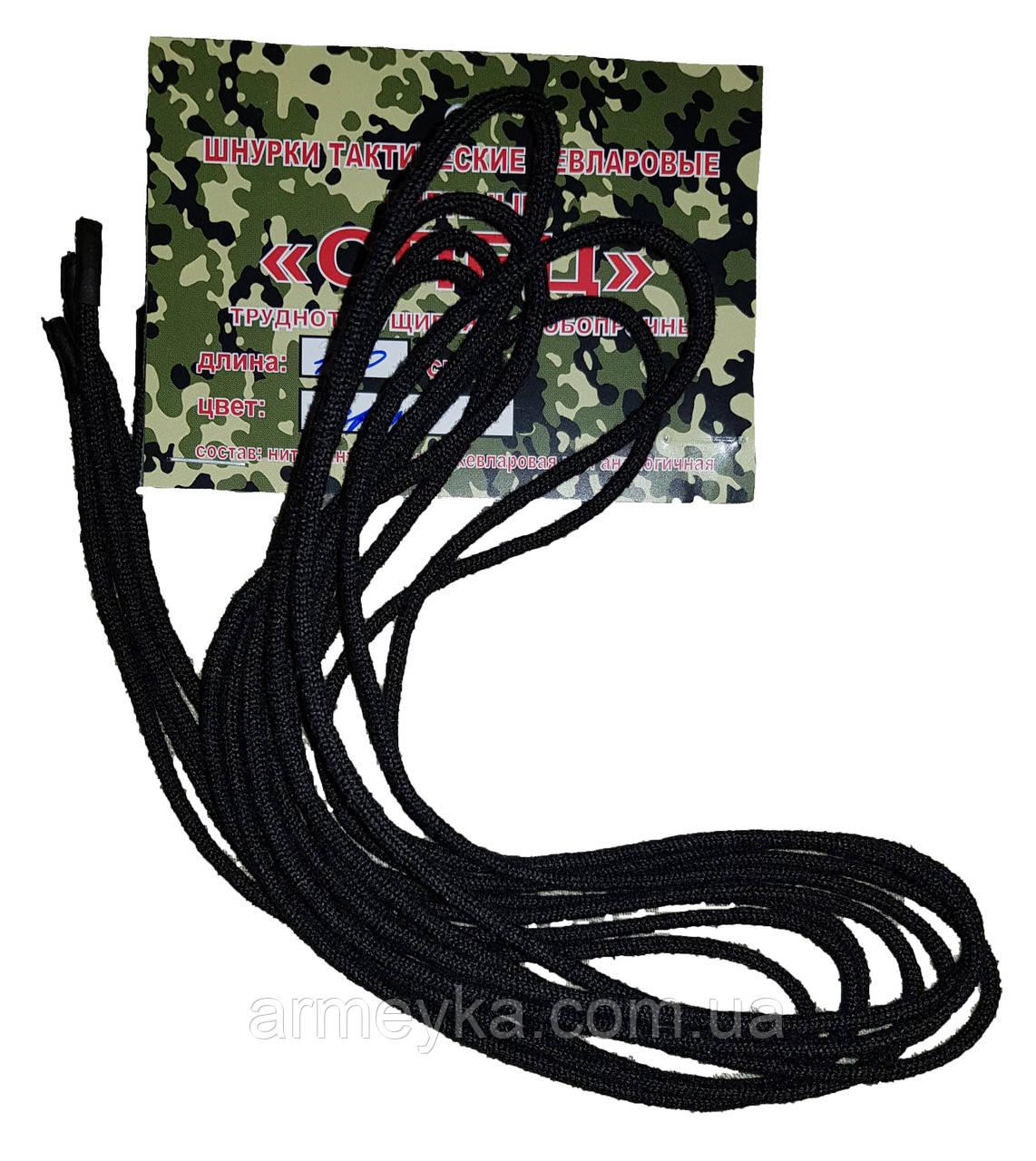 """Кевларовые шнурки """"тм Барс"""", черный. Оригинал, РФ."""