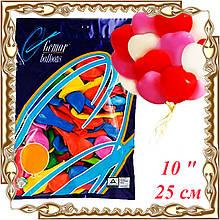"""Шарики воздушные резиновые GEMAR """"Сердце"""" 25 см 10"""" 100 шт."""