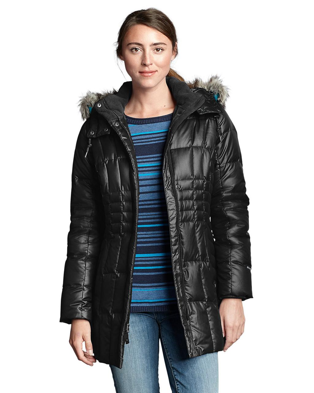 Куртка Eddie Bauer Women High Pass Down Parka BLACK