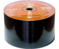 Диск CD-RW VS 700Mb 12x Bulk/50 золотистый
