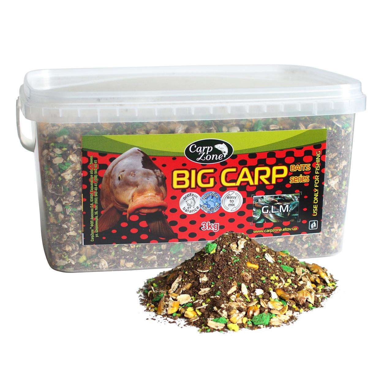 Прикормка Big Carp Series Baits G.L.M. (Зеленогубая мидия)