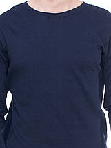 Кофта мужская на байке, темно синяя, фото 2