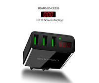 USAMS US-CC035 Универсальное зарядное устройство от сети для USB-устройств на 3 порта (ток 3A) for Apple, фото 1