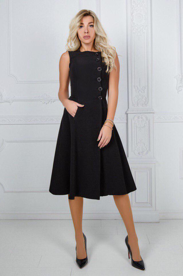 """Приталенное миди-платье на запах """"Navaro"""" с карманами (2 цвета)"""