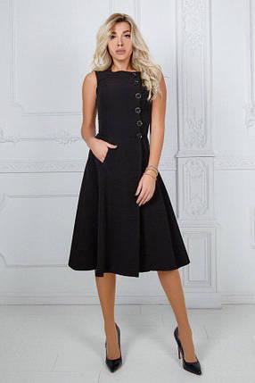 """Приталенное миди-платье на запах """"Navaro"""" с карманами (2 цвета), фото 2"""