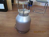 Доильный аппарат в ведро Майга/cтакан н/ж цельный без вакуумного насоса