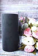 Фатин (вуаль) мягкий 15 см, 25 ярд/рулон, черного цвета, фото 1