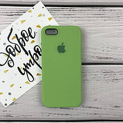 Чехол накладка на iPhone 5/5s/se Silicone case зеленый
