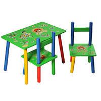Детский Столик с двумя стульчиками Львенок