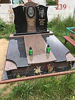 Памятник тройной из жадковського гранита под будущее захоронение