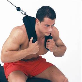 Спортивная мягкая тяга для скручиваний, тренировки пресса чёрная  Body-Solid AC с доставкой, Киев, фото 2