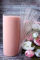 Фатин (вуаль) мягкий 15 см, 25 ярд/рулон, персикового цвета, фото 1