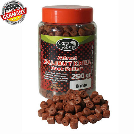Пеллетс насадочный Attract HALIBUT KRILL Hook Pellets 250g 8 mm