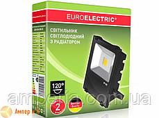 Прожектор светодиодный с радиатором EUROELECTRIC LED COB MODERN 30W 6500K, фото 2
