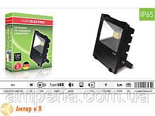 Прожектор светодиодный с радиатором EUROELECTRIC LED COB MODERN 30W 6500K, фото 3